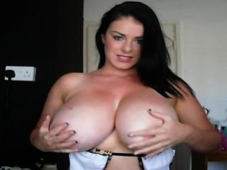 Menstural shaved pussy spread