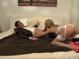 Mom Sexy Mature Blonde Wants You To Feel Her Long Stocking Legs