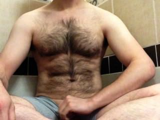 Piss Fountain In The Shower, Wetting My Boxers And My Hairy Body