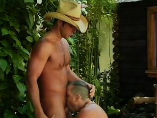 Hot Cowboy Outdoor Bath