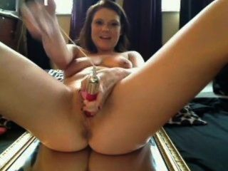 Big Tits Girl Squirt On Mirror