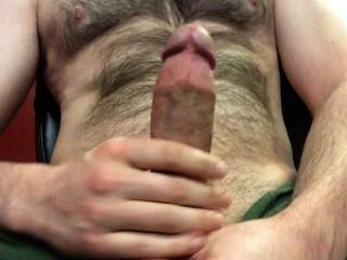 A Nice 5 Minute Jerk-off In My Green Shorts, Big Load On My Hairy Chest