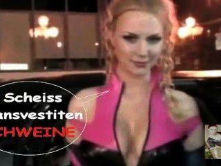 Die Latex Maid Luder Tv Show Scheiss Transvestitenschweine Ausrotten
