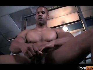 Lustful guy whacking off alone