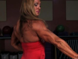 Bodybuilders boobs big hot female with