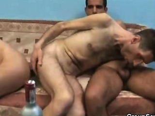 Four Drunk Dudes Cock Sucking Each Other