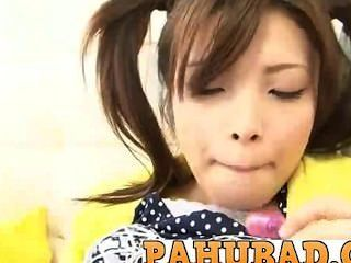 Pretty Horny Japanese Teen Yurika Gotou Plays With Pussy