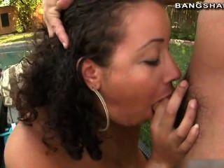 Pornstar Abella Anderson Riding Cock