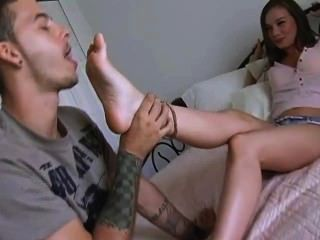 Very Beautiful Young Girl Foot Worshipped