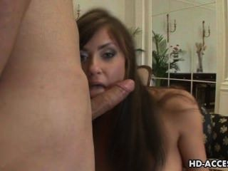 Sexy Teen Takes A Cock In Her Mouth And Pussy