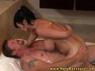 Busty Raven Giving A Titfuck To Guy
