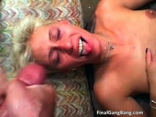 Sexy Blonde Milf Gets Her Last Gangbang Part2
