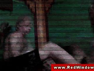 Hot Euro Red Window Slut Fucked After Sucking On Dick