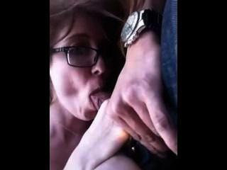 Stupid Slut Gives Road Head