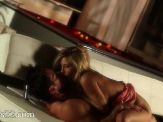Blonde With Huge Tits Fucking On Bigbed