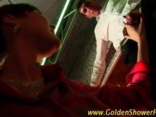 Piss Drenching Golden Shower Slut