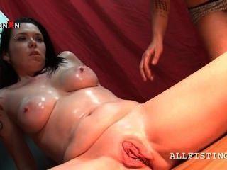 Bitchy Tattooed Lesbo Enjoying A Hardcore Pussy Fist Fuck