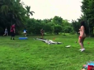 Young Sweet Couple Fucking In Outdoor