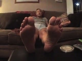Western (ie Blonde) Beer Womans Big Occidental Feet And Thick Nordic Soles