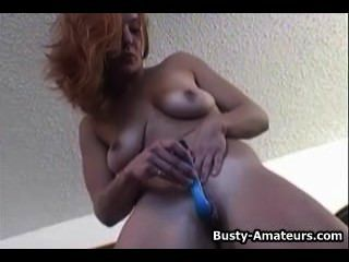 Busty Gabriella Pleasuring Herself Using Dildo