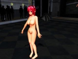 [mmd] Nude Touhou Koakuma Love&joy