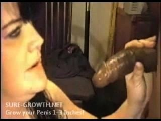 Bbw Milf Finds A Fat Black Cock To Suck On