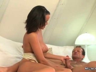 Busty Mature Wanks And Fucks Hard Dick