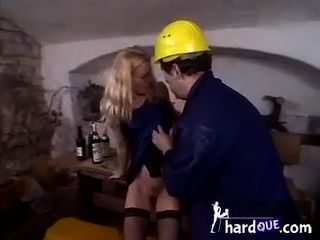 Camilla Krabbe Cute Blonde Teen Fucks Workman