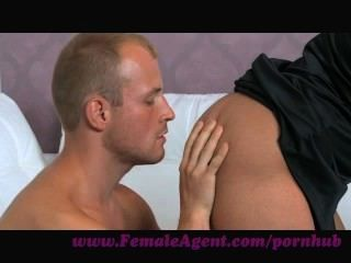 Femaleagent. Nervous Stud Caught In Agents Web
