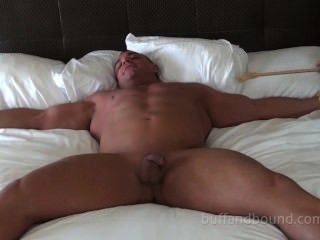 Muscle Hunk: Chaz Ryan Bound And Tickled