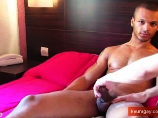 This Sexy Sport Mixed Guy Get Wanked His Very Huge Cock By Us !
