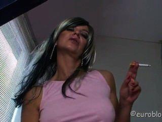 Girl Smoking And Jerking