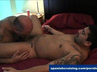 Horny Latinos Blowing Dicks