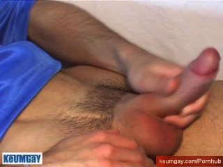 Brice, His 1srt Porn Get Wanked By Us! A Sexy Stud Serviced!