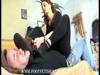 Mistress Maeva - Stinky And Smelly Sock And Feet Domination