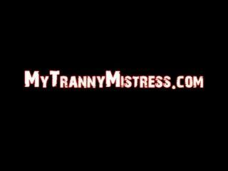 Black Tranny Cums On Male Asses!