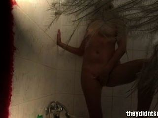 Blonde Masturbates On Hidden Camera In Shower