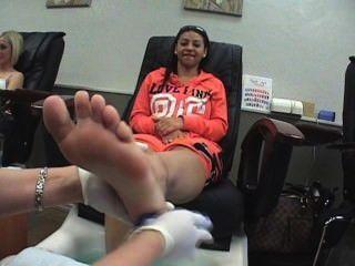 Half Black Half White Chick Foot Scrub