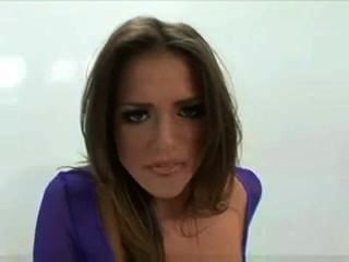 Tori Black Blowing Some Cock In The Gloryhole In Purple Fishnet
