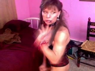 Smoking Mature Tranny