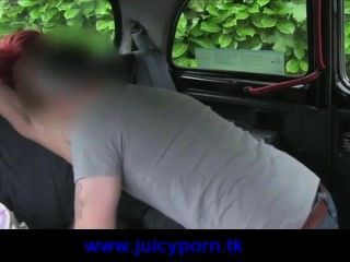 Super Hot Redhead Babe Fucked By Taxi Driver