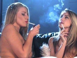 Dannii And Chloe Chain Smoke Marlboro Reds And Masturbate