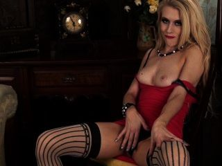 Michelle Moist Red Dress And Stockings
