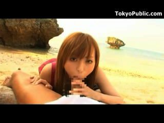 Hot Japanese Sex Outdoors On A Beach
