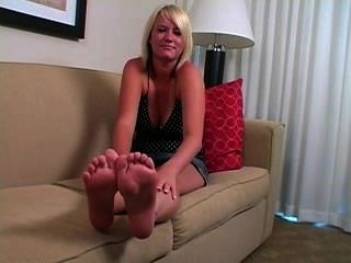 Cute Blond Joi Feet