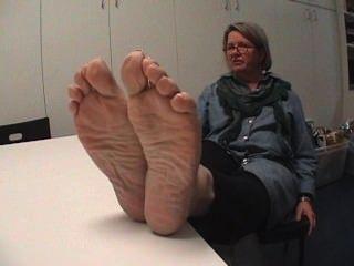 Candid mature granny soles