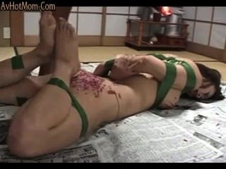 Candling A Japanese Milf To Orgasism