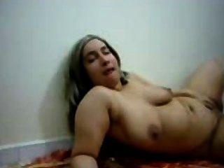Chubby Busty Arab Girl Fingering