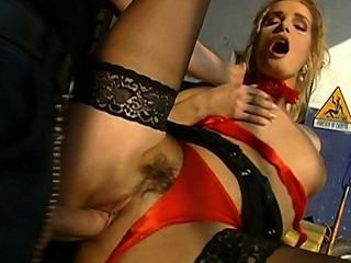 Rich Bitch Eva Takes A Hard Cock On A Car