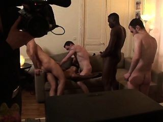 French Milf Bettina & Redhead Slut Gangbang